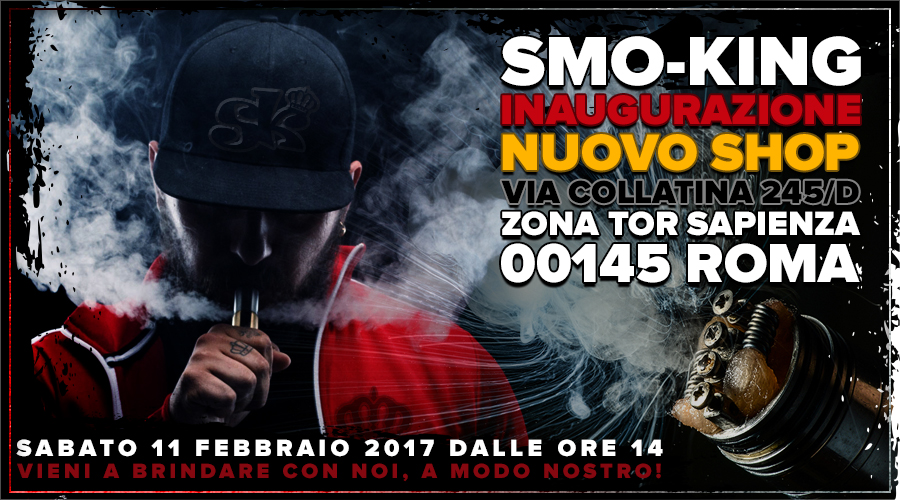 Smo-King Sigaretta Elettronica Roma Vape Shop Rome smo-king Smo-King Sigaretta Elettronica Roma banner