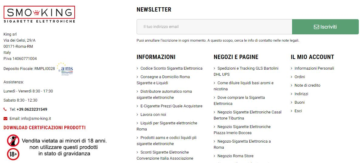 Newsletter Smo-King coupon sigaretta elettronica codice sconto su ego roma online Coupon Sigaretta Elettronica Codice Sconto Su Ego Roma Online newsletter